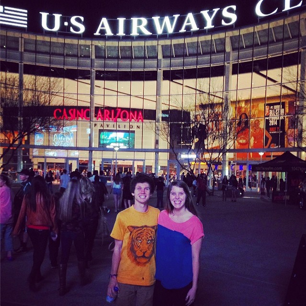 joe previte and stacey fawthorp at imagine dragons concert